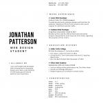 Black Minimalist Resume