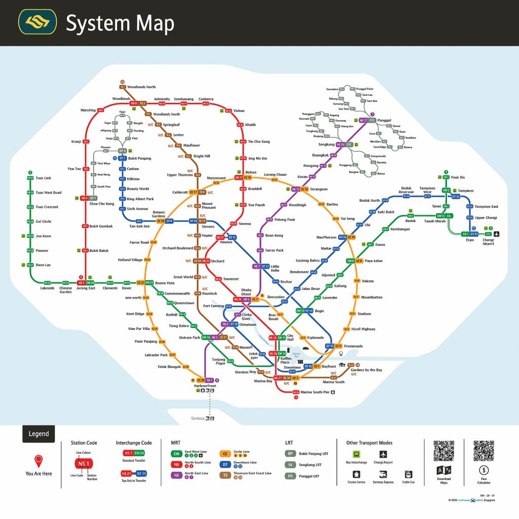 New MRT map