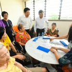 2018_Health Minister Gan Kim Yong and Minister Lawrence Wong as MP for Marsiling-Yew Tee GRC engaging with Residents at MWS Nursing Home Yew Tee's Opening Opening